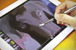 Кисть-стилус для рисования на сенсорных экранах
