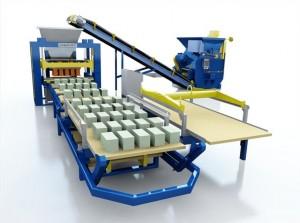 Автоматизированная линия для производства керамзитобетона