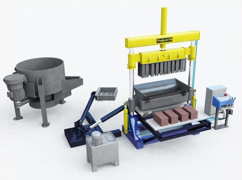 Оборудование (станок) для производства керамзитобетонных блоков