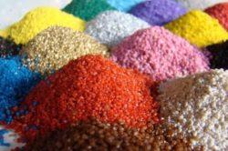 Производство цветного щебня, декоративной крошки, песка: