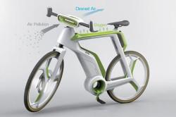Велосипед с функцией очистки воздуха